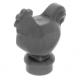 LEGO csirke tyúk, matt ezüst (95342)