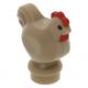 LEGO csirke tyúk, sötét sárgásbarna (95342)