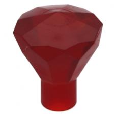 LEGO ásvány 1×1, átlátszó piros (30153)