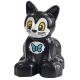 LEGO DUPLO macska cica kék masni mintával, fekete (38641)