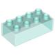 LEGO DUPLO kocka 2×4, átlátszó világoskék (3011)