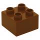 LEGO DUPLO kocka 2×2, sötét narancssárga (3437)