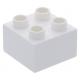 LEGO DUPLO kocka 2×2, fehér (3437)