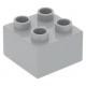 LEGO DUPLO kocka 2×2, világosszürke (3437)