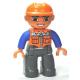 LEGO DUPLO férfi munkás minifigura 10508