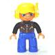 LEGO DUPLO férfi pilóta minifigura 10508