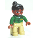 LEGO DUPLO női állatkerti gondozó minifigura 10576