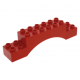 LEGO DUPLO boltív 2×10×2, piros (51704)