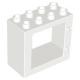 LEGO DUPLO ablakkeret 2 x 4 x 3, fehér (61649)