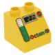 LEGO DUPLO tetőelem 2×2 45° mintával, sárga (63017)
