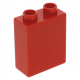 LEGO DUPLO kocka 1×2×2, piros (76371)