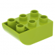 LEGO DUPLO kocka 2×3 lentről íves oldallal, lime (98252)