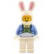 LEGO Húsvéti nyuszi jelmezes fiú minifigura 5005249 (hol116)