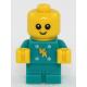 LEGO City bébi csecsemő minifigura mintás kék ruhában 10263 (hol121)
