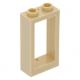 LEGO ablakkeret 1×2×3, sárgásbarna (60593)
