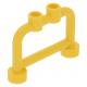LEGO korlát 1×4×2 tetején két bütyökkel, sárga (4083)