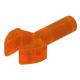 LEGO 1 hosszú rúd klippel (mechanikus fogó), átlátszó neon narancssárga (48729)