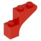 LEGO boltív 1×3×2, piros (88292)