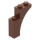 LEGO boltív 1×3×3, vörösesbarna (13965)