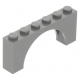 LEGO boltív 1×6×2, sötétszürke (15254)