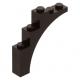 LEGO boltív 1×5×4, sötétbarna (2339)