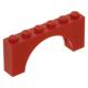 LEGO boltív 1×6×2, piros (3307)