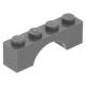 LEGO boltív 1×4, sötétszürke (3659)