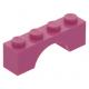 LEGO boltív 1×4, sötét rózsaszín (3659)