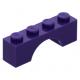 LEGO boltív 1×4, sötétlila (3659)