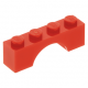 LEGO boltív 1×4, piros (3659)
