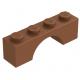 LEGO boltív 1×4, vörösesbarna (3659)