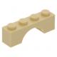 LEGO boltív 1×4, sárgásbarna (3659)