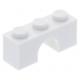 LEGO boltív 1×3, fehér (4490)