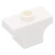 LEGO boltív 1×2 tetején bütyökkel, fehér (38583)