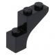 LEGO boltív 1×3×2, fekete (88292)