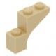 LEGO boltív 1×3×2, sárgásbarna (88292)