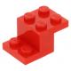 LEGO fordító elem 3 x 2 x 1 1/3, piros (18671)
