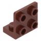LEGO fordító elem 1 x 2 - 2 x 2, vörösesbarna (99207)