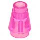 LEGO kúp 1x1, átlátszó sötét rózsaszín (4589b)