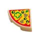 LEGO csempe 1×1 pizza szelet mintával, sárgásbarna (29775)