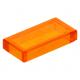 LEGO csempe 1×2, átlátszó narancssárga (3069b)