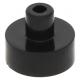 LEGO csempe 1×1 kerek fogóval, fekete (20482)