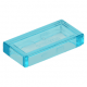 LEGO csempe 1×2, átlátszó világoskék (3069b)