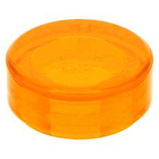 LEGO csempe 1×1 kerek, átlátszó narancssárga (98138)
