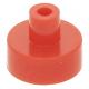 LEGO csempe 1×1 kerek fogóval, piros (20482)
