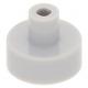 LEGO csempe 1×1 kerek fogóval, világosszürke (20482)