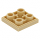 LEGO csempe 2×2 alul négy bütyökkel, sárgásbarna (11203)