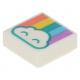 LEGO csempe 1×1 felhő és szivárvány mintával, fehér (49610)