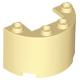LEGO henger fél (ívelt fal elem) 2×4×2 1×2-es kivágással, sárgásbarna (24593)
