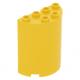 LEGO henger fél (ívelt fal elem) 2×4×4, sárga (6259)